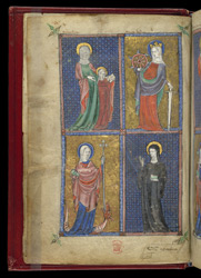 Saints Anne, Katherine, Margaret, and ?Barbara, Added To The 'Alphonso' Psalter